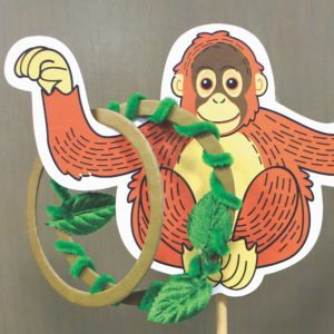 baby orangutan ring toss game